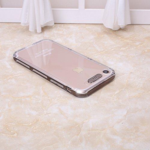 iPhone Case Cover Étui pour iPhone 7, TPU Transparent Couverture souple Étui de protection souple et flexible pour iPhone 7 4,7 pouces ( Color : Rose , Size : IPhone 7 ) Brown