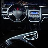 Auto Innenbeleuchtung Streifen Lichtleiste,12V Neon Atmosphäre glühende Strobing Elektroluminescent Licht leuchtende EL Draht Kabel für Autotür / Konsole / Seat / Dash Board Dekoration