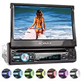 XOMAX Autoradio mit Touch Screen, DVD, CD, USB, 1 DIN