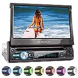 XOMAX XM-D750 Autoradio con Touch Screen da 18 cm / 7' I DVD, CD, USB, AUX I RDS I Bluetooth I Collegamenti per retrocamera, telecomando al volante e subwoofer I 1 DIN