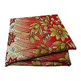 PEEGLI Jahrgang Indische Gedruckte Sari Rote Seide Mischung