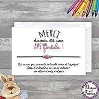 Carte Merci AVS trop géniale + Bracelet porte bonheur Agate