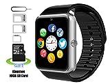 Smart watch,Intelligente Uhr, Android smartwatch, iphone intelligente Uhr, Pushman 1, täglich wasserdicht, Stoßfest, SmartPhones, intelligente Uhr für Android, intelligente Uhr für iphone6 / 6s / 7 (Silver)