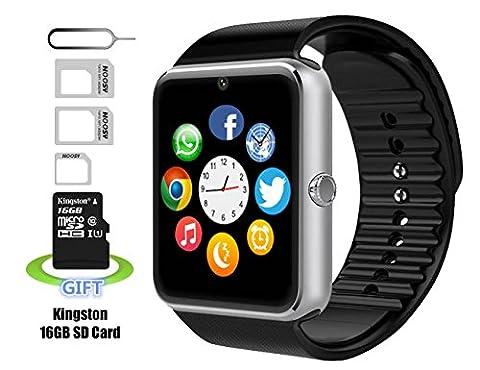 Montre Téléphone,Smart Watch Montre Intelligents,Pushman 1 Montre Téléphone pour iPhone