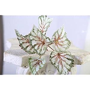 Plantas artificiales de tacto real – Begonia 4 tallos, marrón y morado