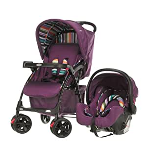 Obaby Monty Travel System (Purple Stripe)