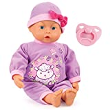 Bayer Design 93363AC - First Words Baby Funktionspuppe 33 cm, lila