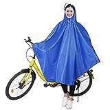 boonor Poncho de pluie Cape de pluie poncho pluie Vestes imperméable respirant avec capuche, manteau de pluie étanche pour roues de vélo pour vélo avec bandes réfléchissantes, Pluie Vêtements Housse de pluie, veste de pluie facile pour les cyclistes, bleu