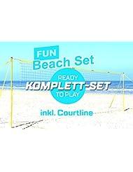 Funtec Fun Beach Set - komplette Beachvolleyball-Netzanlage für Einsteiger