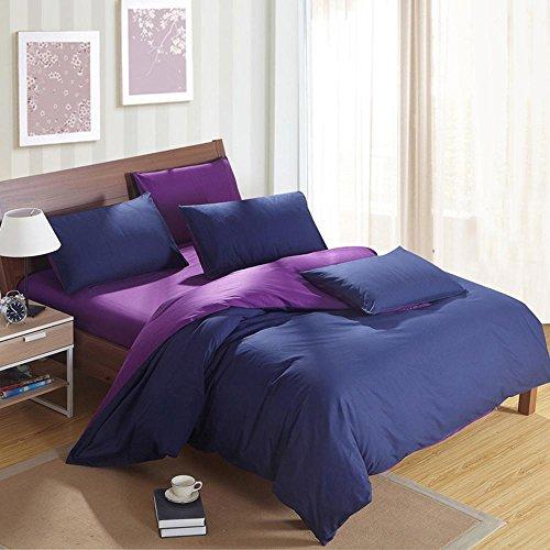 11 Stück Bettwäsche (SHIQUNC Baumwolle Druck bettwäsche Plain Schlafzimmer Set 4 stücke 1 bettbezug, 1 bettwäsche, 2 Kissenbezüge, 11, Single)