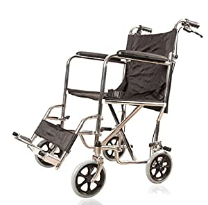 Image of: Amazon Jsb Folding Wheelchair For Disabled Patients Old People Recordsetter Buy Jsb Metal Steel Foldable Light Weight Wheelchair For Old Age