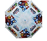 Dhinchak Art Box Fabric Material Super Heroes Print Small Umbrella for Kids, Up to 8 Years/17-Inches (Multicolour)