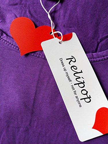 Relipop Damen T-Shirt XX-Large Violett