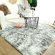 Modern Shaggy Rugs Fluffy Soft Touch Dazzle Sparkle Area Rug Carpet Large for Living Room Bedroom Floor Mat
