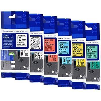 5x Ersatz kompatible Schriftbänder für Brother TZE921 9mm x 8m Bänder Drucker Pr