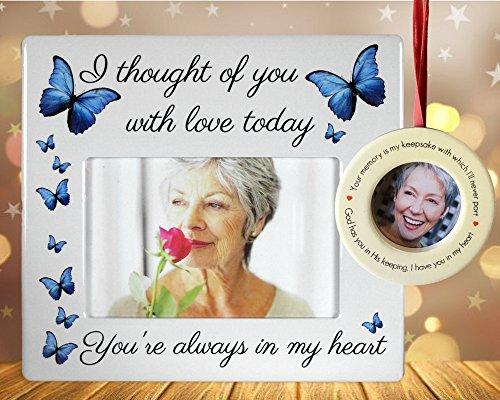 Banberry Designs Bilderrahmen und Ornament, I Thought of You with Love Today - in Loving Memory Bild Ornament mit Staffeleirückseite, Kondolenz (Loving Bild Memory)