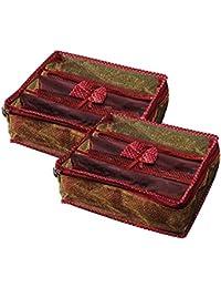 srajanaa Golden Zipper Plastic Bangle Organiser Box for Women(Pack of 2)