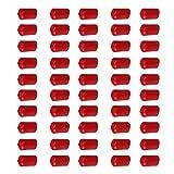 CNBTR Rund PVC Finisher Rohr Stop Gummi Gewinde Displayschutzfolie Cover Schlauch Endkappen Set 50 Stück