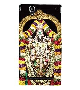 Lord Balaji Venkateshwara 3D Hard Polycarbonate Designer Back Case Cover for Sony Xperia T2 Ultra :: Sony Xperia T2 Ultra Dual SIM D5322 :: Sony Xperia T2 Ultra XM50h