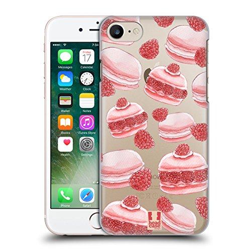 Head Case Designs Empilé Empreintes De Macaron De Macaron Étui Coque D'Arrière Rigide Pour Apple iPhone 5 / 5s / SE Framboises