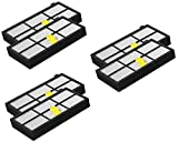 6 pack HEPA Filter für iRobot Roomba der 800 / 900er Serie (870 , 871 , 880 , 890 , 980)