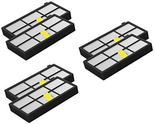 #6 pack HEPA Filter für iRobot Roomba der 800 / 900er Serie#