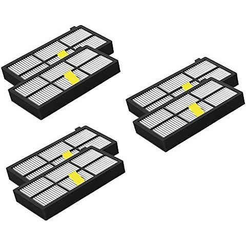 6Pack Filtro HEPA para iRobot Roomba la serie 800/900Er (870, 871, 880, 890, 980)