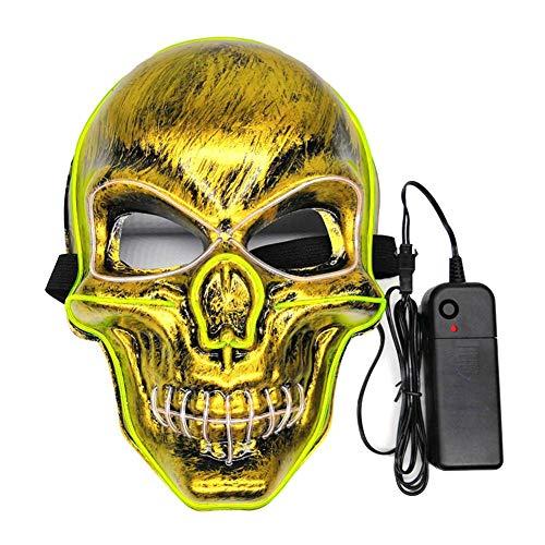 BEENZY LED Leuchtmaske - Skelettform Leuchtmaske Männlich Weiblich Persönlichkeit Karneval Nacht Cosplay Ball Party Masken Street Dance Maske Für Halloween Party, Scary Halloween Blinkmaske