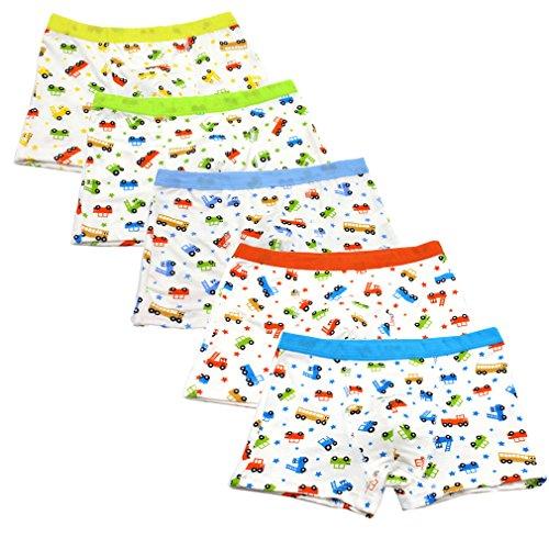 JT-Amigo 5er Pack Kinder Jungen Boxershorts Unterhosen Auto Motive, Gr. 104-116, Farbe 1
