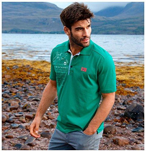 JAN VANDERSTORM Herren Poloshirt JANO in Übergröße   Große Größen   Plus Size   Big Size   XL - 7XL Grün