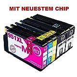 N.T.T.® 5x Tintenpatronen kompatibel zu HP950 HP 951XL HP-950 HP-951 ( 2 Schwarz, 1 Cyan, 1 Magenta, 1 Yellow ) Multipack kompatibel zu HP OfficeJet Pro 8600, 8610, 8620, 8630, 8640, 8660, 8615, 8625, 8100, 251dw, 271dw Druckerpatronen kompatibel zu HP-950-XL  HP-951-XL