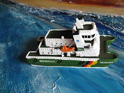 Price comparison product image Model Ship Coast Zollschiff Helgoland inch Square Ship Boat Approx. 12 CM x 5.5 CM