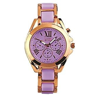Eton señoras reloj, Morado/Rosa Oro Tono Enlace Pulsera, Low níquel 3209j-pl