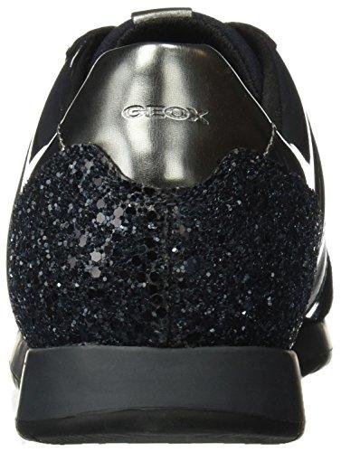 Geox D Deynna D, Sneakers Basses Femme Bleu (Dk Navy/navy)