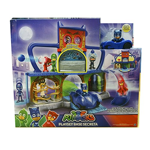PJ Masks - Playset base secreta, versión en Castellano (Bandai 24561)