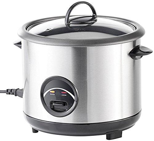 Rosenstein & Söhne Schnellkochtopf: Edelstahl-Reiskocher 1,5 Liter (Reiskocher mit Warmhaltefunktion)