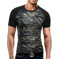 Swallowuk - T-shirt décontracté slim fit à manches courtes - Couleur  camouflage - Pour f32e0189f4e