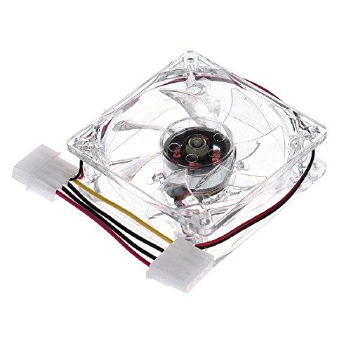 joyliveCY Pc Computer Lüfter 80mm mit 4ea LED Silent DC 12V LED Leuchtende 4D Stecker Axial Lüfter Klar -