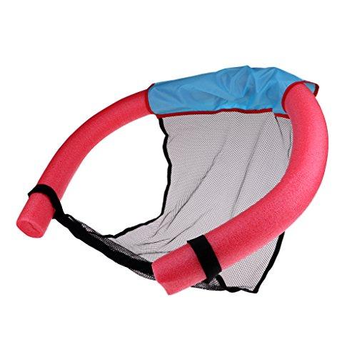 T TOOYFUL Schwimmender Pool Nudel Schaum Stuhl Für Erwachsene, Flexible Schwimmen Nudel Mit Riemen Ineinander Greifen Entspannungs Aufenthaltsraum Sitz, Wasser - Rot, S -