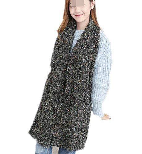 QPALZM Damen Schals Winter Dicke Warme Lange Wolle Gestrickt Schals Paar Outdoor Skischuhren (Alte Paar Kostüm)