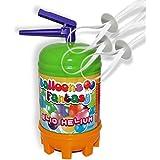 Helium Ballongas Einwegflasche 120 Liter für Ballons + 10 Schnellverschlüsse von Haus der Herzen®