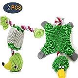 GingerUP Hundespielzeug, quietschendes Plüschspielzeug mit Seilknoten, Jagd,...