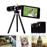 Expower Teleobiettivo per iPhone 18X Zoom Telescopio Cellulare Lente Smartphone Kit Fotografico Obiettivi con Mini Treppiede + Custodia per iPhone 7 plus /6s plus / 6 plus/ 7 / 6S / 6 /5 /se