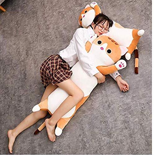 AMOYER Cat Kissen Plüsch - Lange Cat Kissen Plüschtier Weiches Kissen Stofftier Puppe Schlafsofa Schlafzimmer-Dekor Geschenke für Kinder - 24 Zoll (Die Kleine Meerjungfrau-dekor)