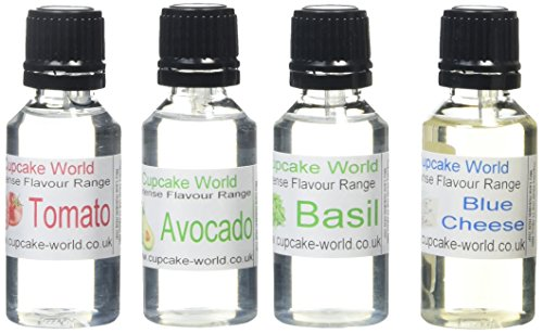 cupcake-world-avocado-blue-cheese-tomato-basil-food-flavourings-bottles-285-ml-pack-of-4