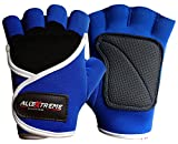 Allin Exporters All Extreme Unisex Gym & Fitness Gloves (Blue_X-Small)