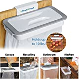 #9: Inovera Attachable Kitchen Cupboard Hanging Trash Bag Holder Garbage Bag Holder, White