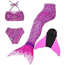 Traje de baño Girl Sirena Cola - Princesa Cosplay Traje de baño para Fiesta de natación