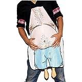 ueetek cocinar cocina Delantal novedad Wacky Belly Hombre impreso delantal para cocinar Grill Barbacoa