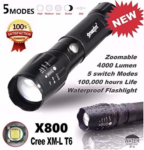HCFKJ 5000LM G700 Tactical LED Taschenlampe X800 Zoom Super Helle Militärlicht Lampe